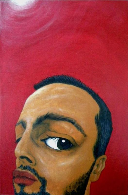Elfie Giuseppe Fontanarosa acrilico su tela, 20 x 30, 2013 #selfie #autoritratto #acrilico #mostra #arte L'